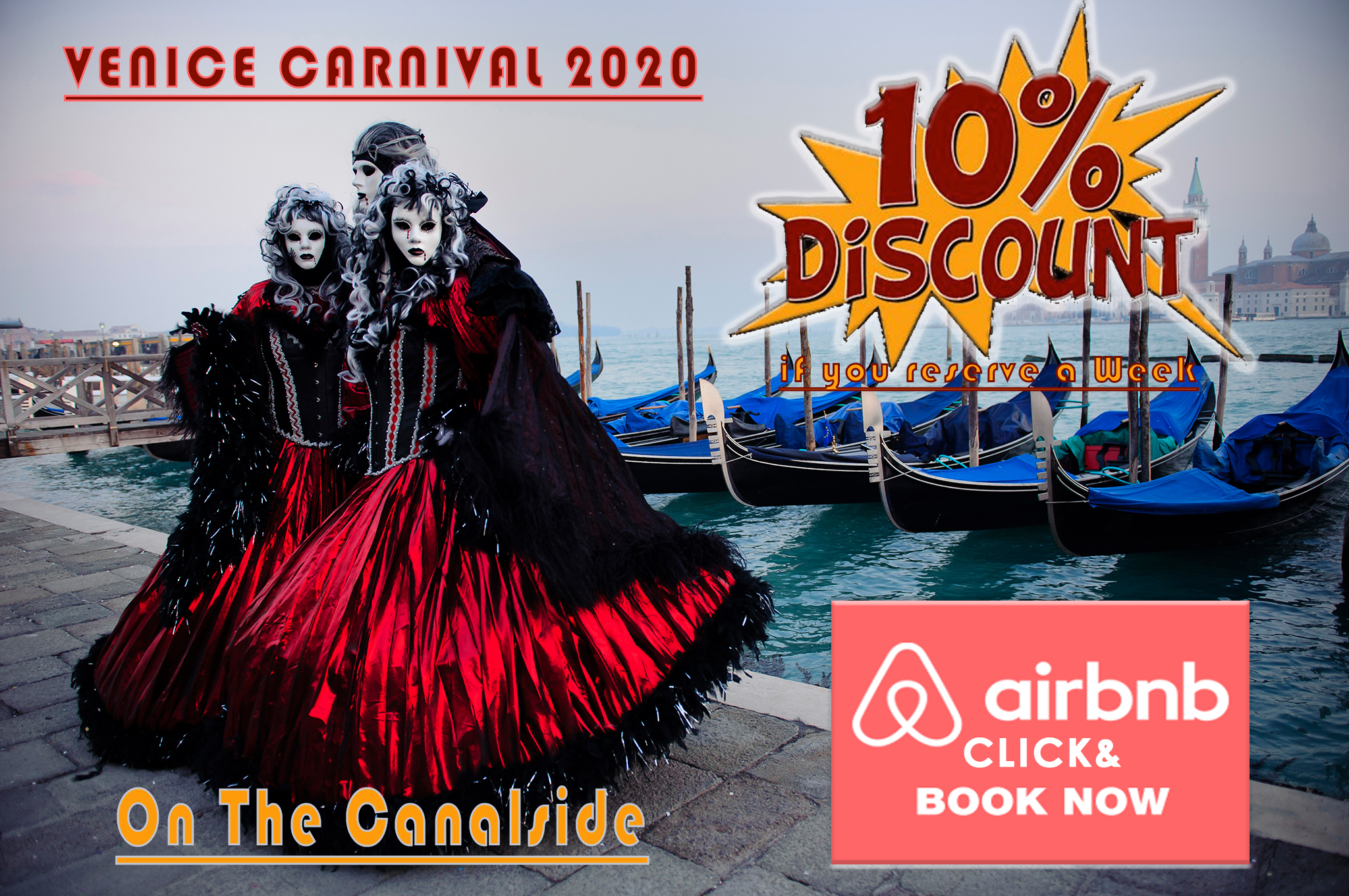 On The Canalside Offerta CARNEVALE 2021